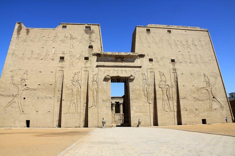 Edfu temple royalty free stock photography