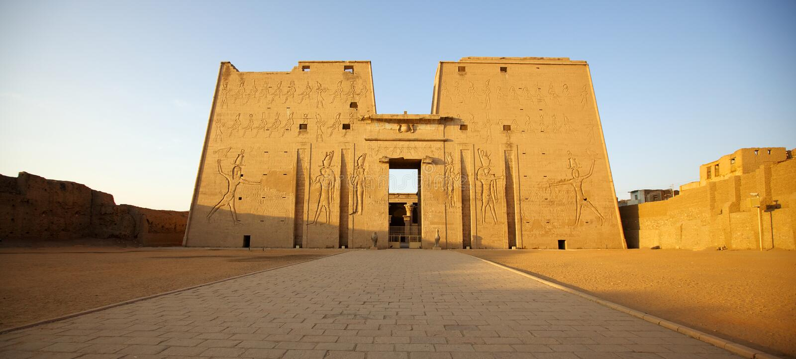 Edfu temple of Horus in Egypt