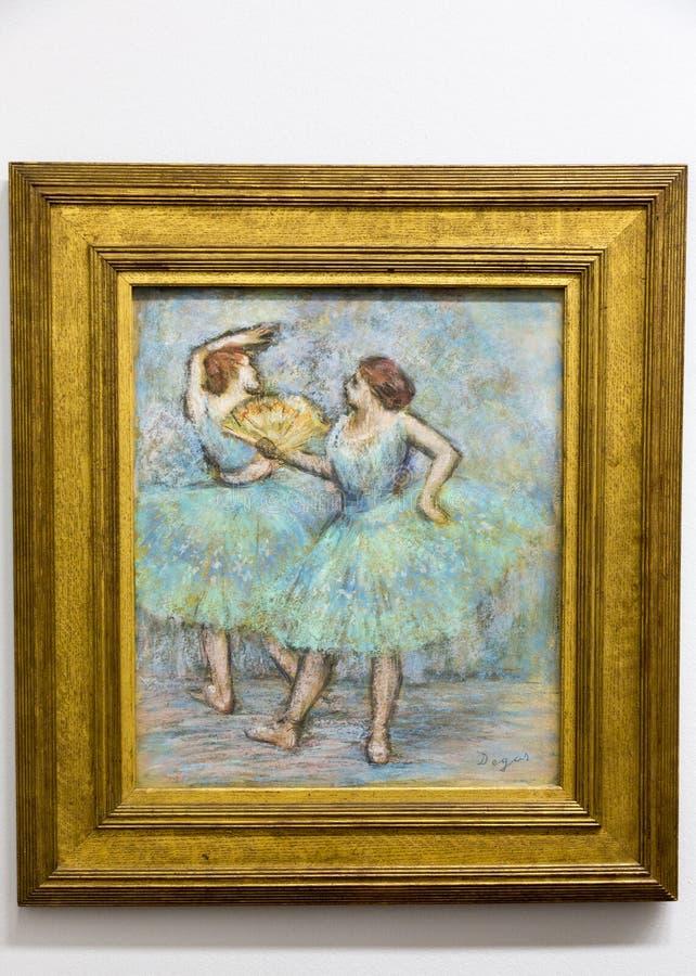 Edgar Degas - bij het museum van Albertina in Wenen stock afbeeldingen