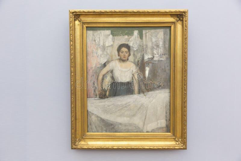 Edgar Degas-het schilderen in Neue Pinakothek in München royalty-vrije stock fotografie
