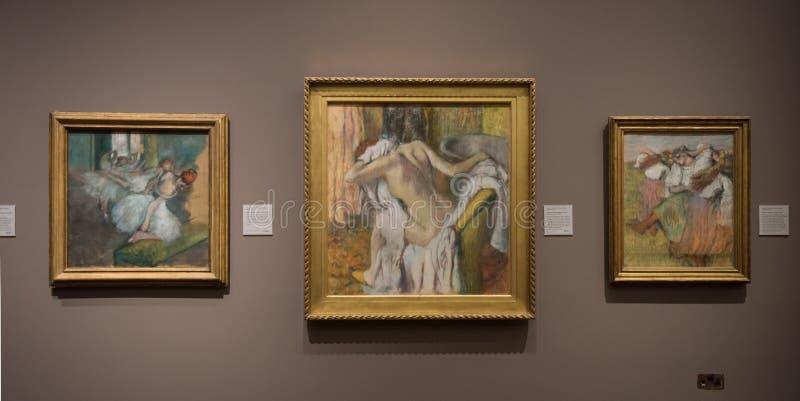 Edgar Degas, pastelkleurschilderijen stock fotografie