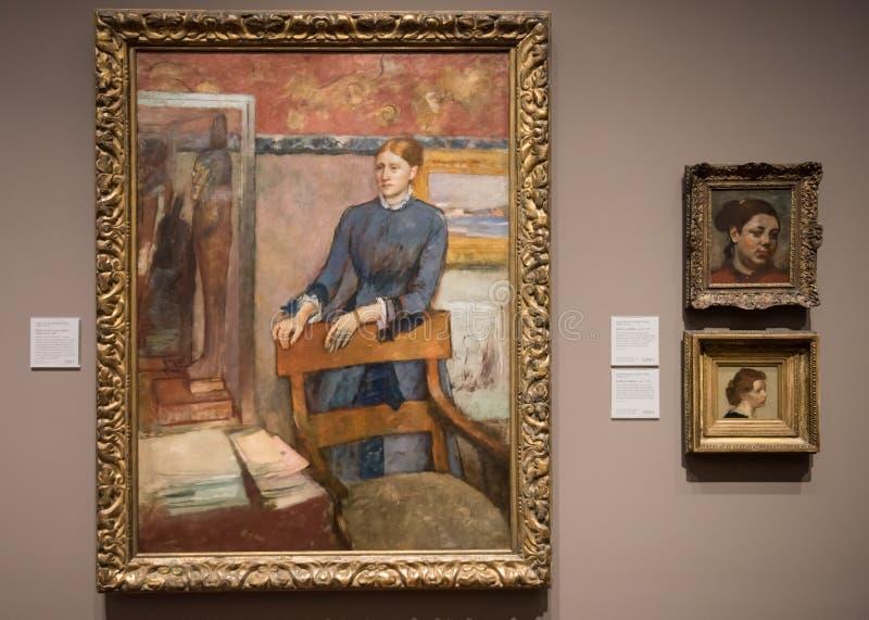 Edgar Degas, pastelkleurschilderijen royalty-vrije stock fotografie