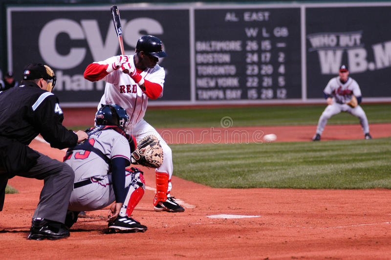 Edgar Renteria, Boston Red Sox fotografie stock libere da diritti