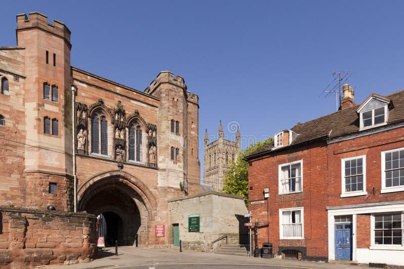 Edgar Tower et cathédrale, Worcester photo stock