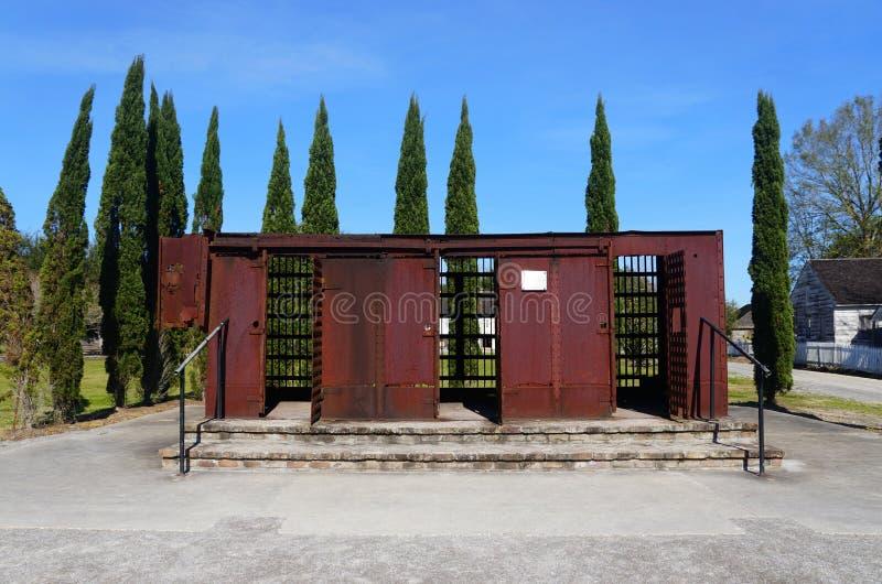 Edgard, Louisiana, U.S.A - February 2, 2020 - An old cast-iron jail used to incarcerate slaves near Whitney Plantation stock photography