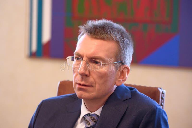 Edgars Rinkevics, Außenminister von Lettland stockfoto