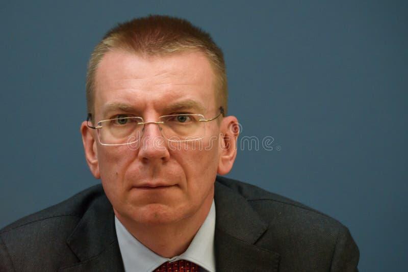 Edgars Rinkevics, Au?enminister von Lettland lizenzfreies stockbild