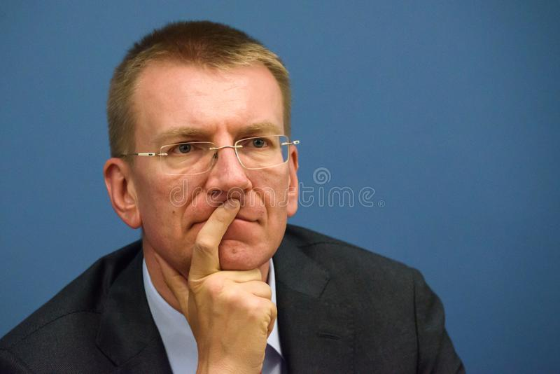 Edgars Rinkevics, Minister of Foreign Affairs of Latvia stock images