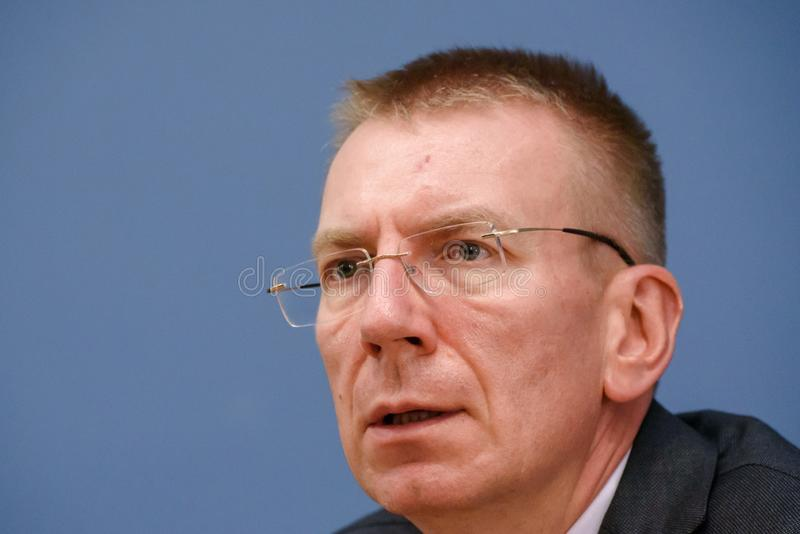 Edgars Rinkevics, Minister of Foreign Affairs of Latvia royalty free stock images