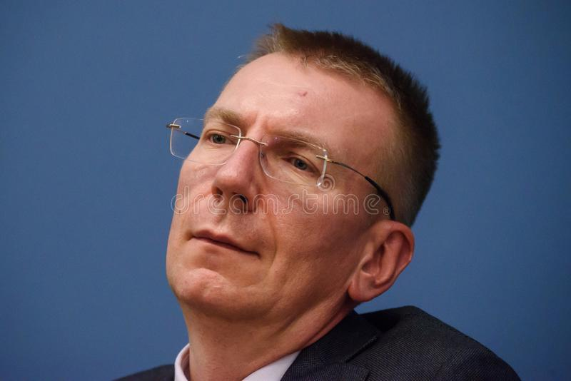 Edgars Rinkevics, Minister of Foreign Affairs of Latvia royalty free stock photo