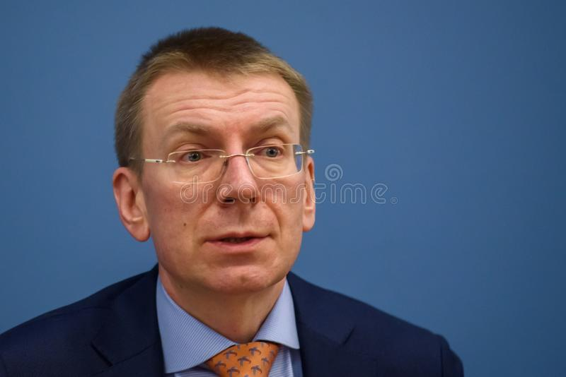 Edgars Rinkevics, ministro de asuntos exteriores letón foto de archivo libre de regalías