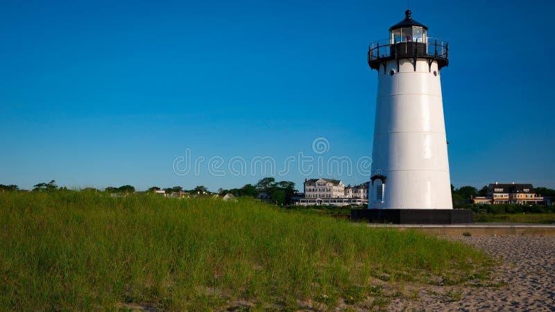 Edgartown latarnia morska przy świtem zdjęcia stock