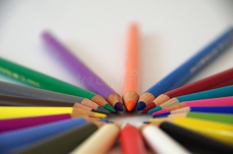 The Edge av blyertspennor arkivfoto
