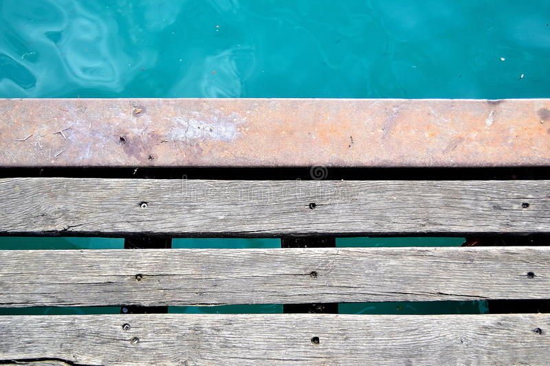 Download At the edge of the bay stock photo. Image of wood, brown - 26962064