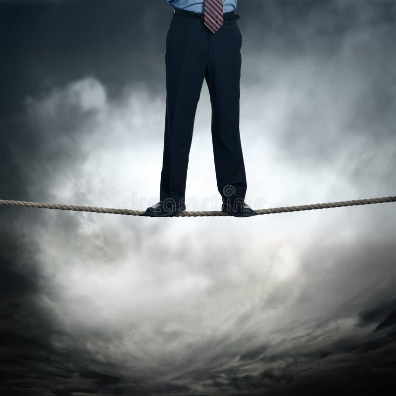Edge of business risk stock illustration