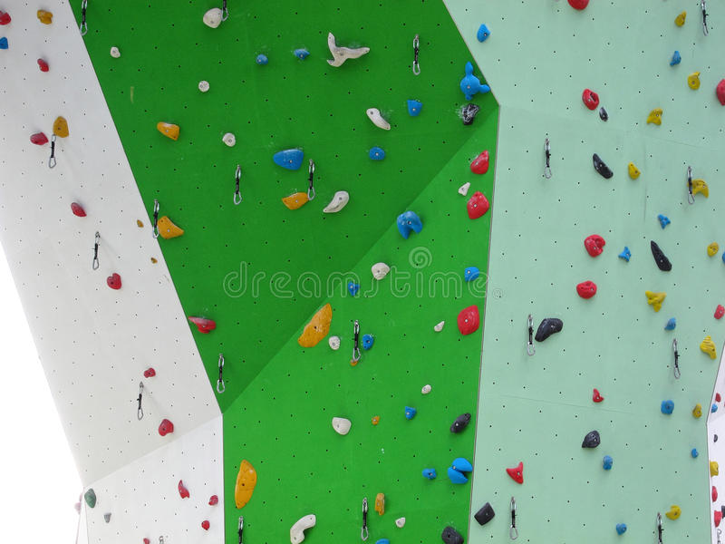 Edge of climbing wall royalty free stock images