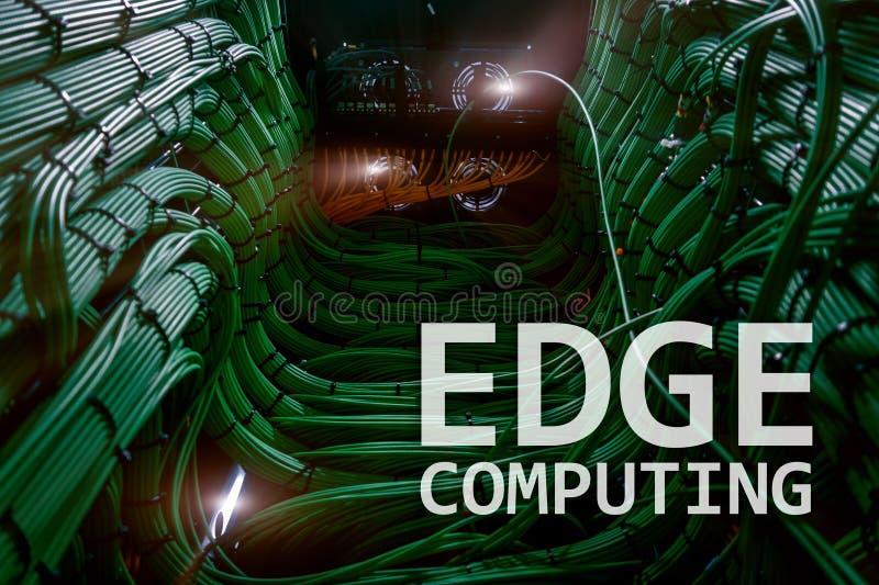 EDGE computing, internet and modern technology concept on modern server room background. EDGE computing, internet and modern technology concept on modern server vector illustration