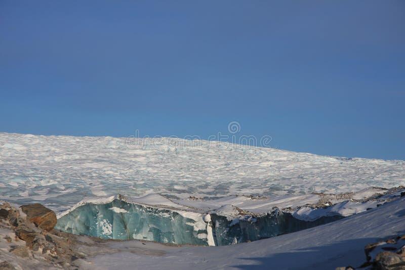 The Edge of the Greenland Ice Cap. Near Kangerlussuaq stock photo