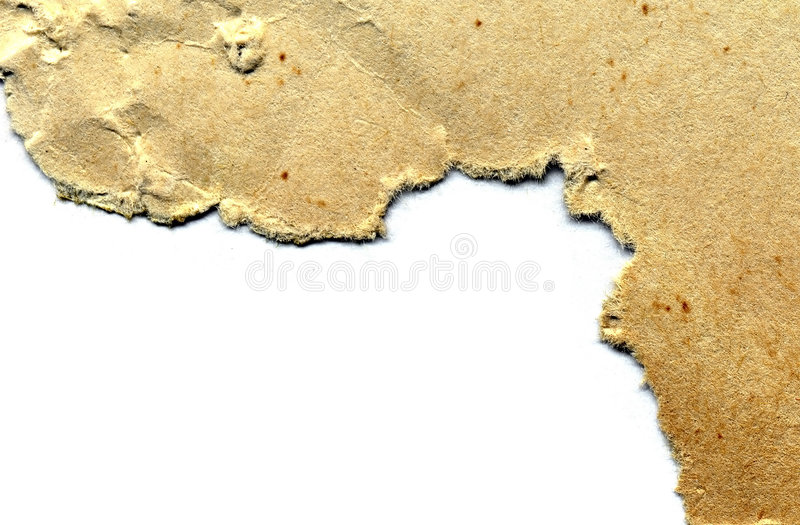 Edge old torn papers. Edge old torn yellow paper stock photography