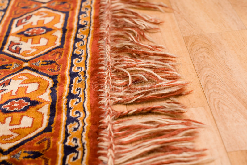 Edge of the rug royalty free stock photos