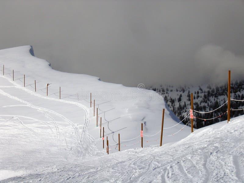 Edge of Skiing at Targhee Ski Resort royalty free stock photography