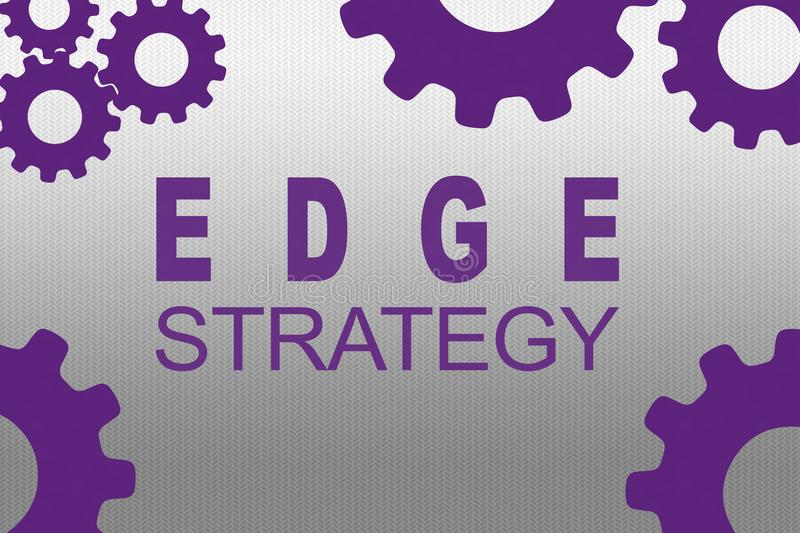 EDGE STRATEGY concept royalty free illustration