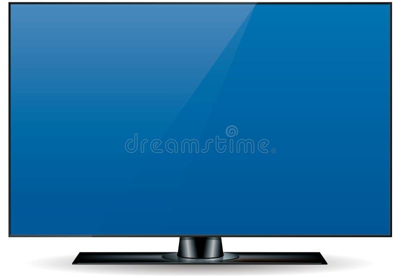 Edgeless HD Television Set stock illustration