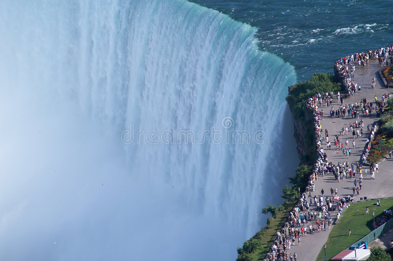 Download Edges of Niagara Fall stock photo. Image of mist, people - 7809586