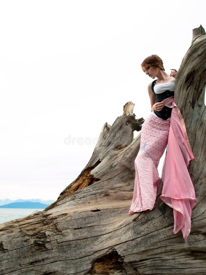Edgy Fashion Model Posing Stock Photo