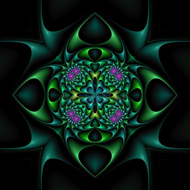 Download Edgy floral mandala stock illustration. Image of rendering - 4220053