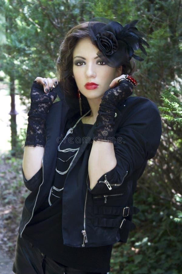 Edgy gothic girl royalty free stock photo