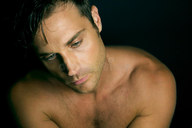 Download Edgy man with no shirt on stock image. Image of green - 10852835