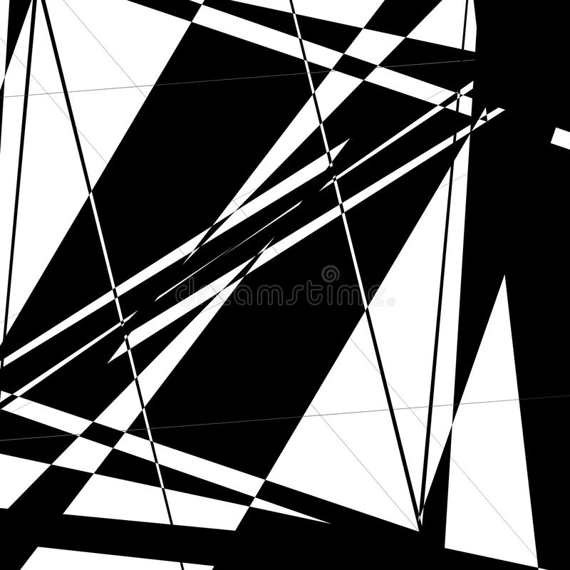 Edgy, random artistic composition of geometric shapes. Royalty free vector illustration vector illustration