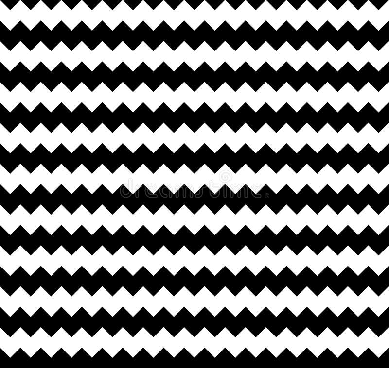 Edgy seamlessly repeatable zig-zag pattern. Abstract monochrome vector illustration