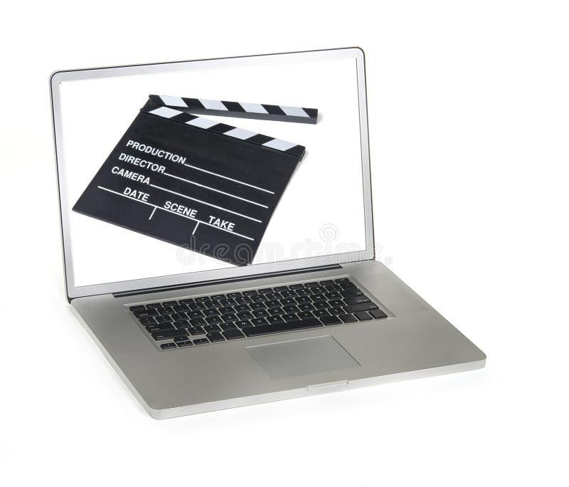 Edição da realização no laptop foto de stock
