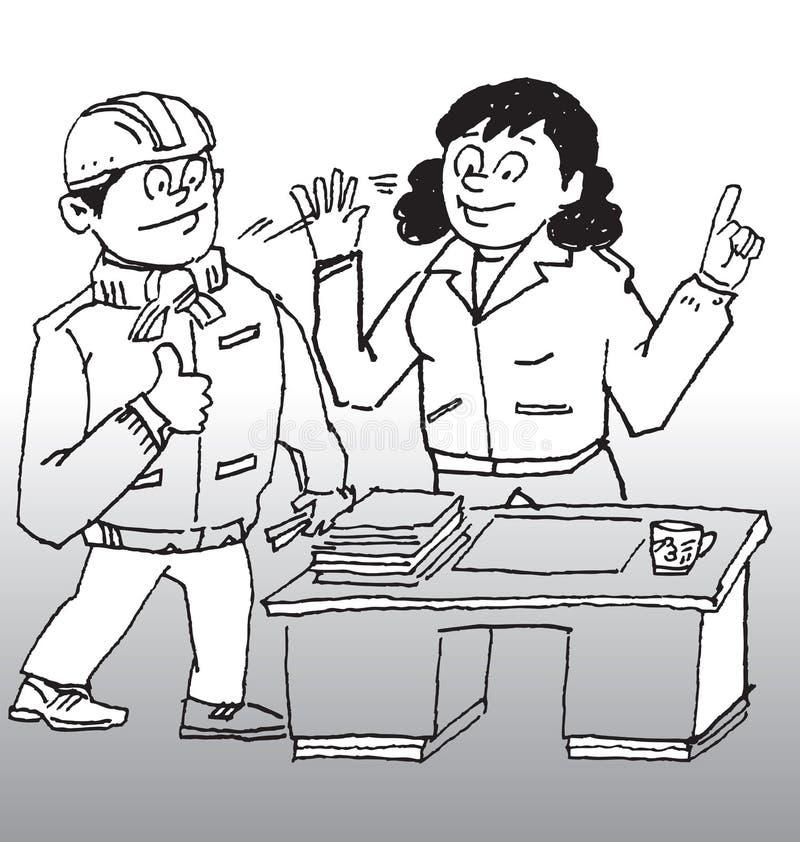 Edição de segurança da construção ilustração stock