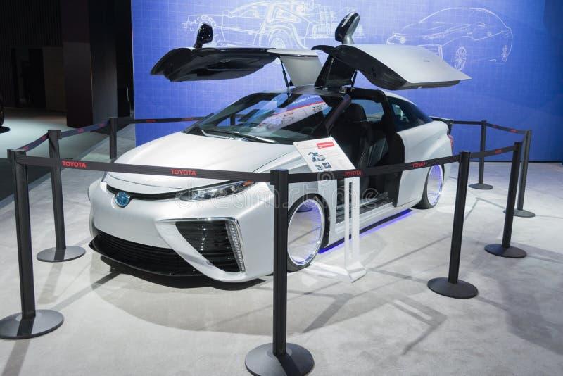 Edição de Toyota Mirai Back To The Future imagem de stock royalty free