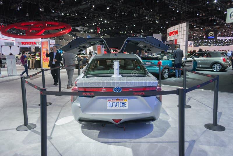 Edição de Toyota Mirai Back To The Future fotos de stock royalty free