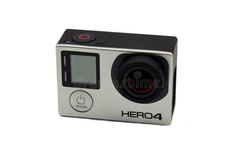 Edição do preto de Gopro Hero4 imagens de stock royalty free