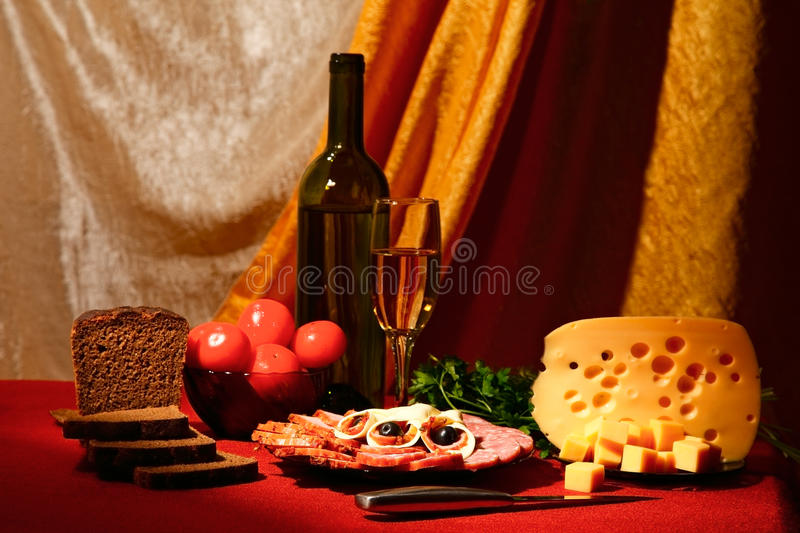 Edible stillife. Edible still life. variety of food on table stock image