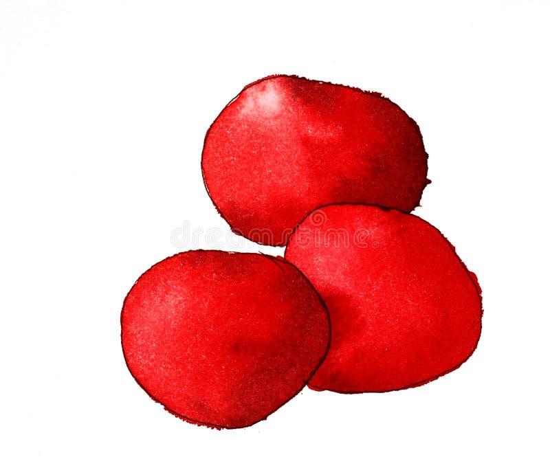 Edibles génériques rouges illustration de vecteur