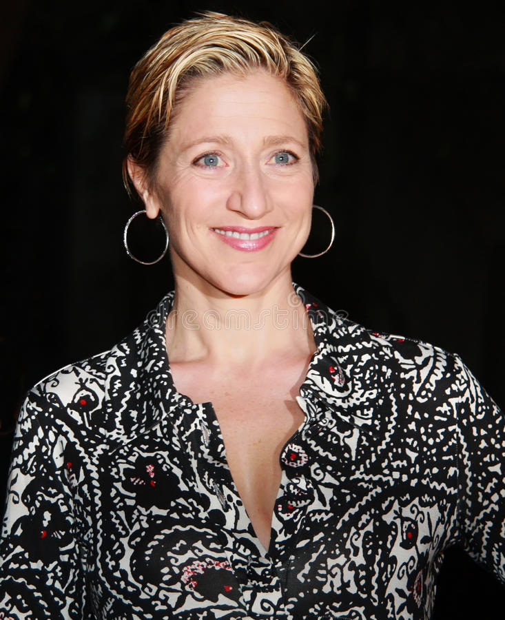 Edie Falco. Actress Edie Falco arrives for the Vanity Fair party saluting the 7th Annual Tribeca Film Festival in New York City; April 22, 2008 stock photos