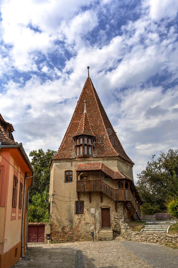 Street in Sighisoara, Romania royalty free stock images