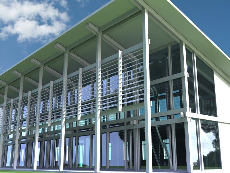 edifício 3D ilustração do vetor