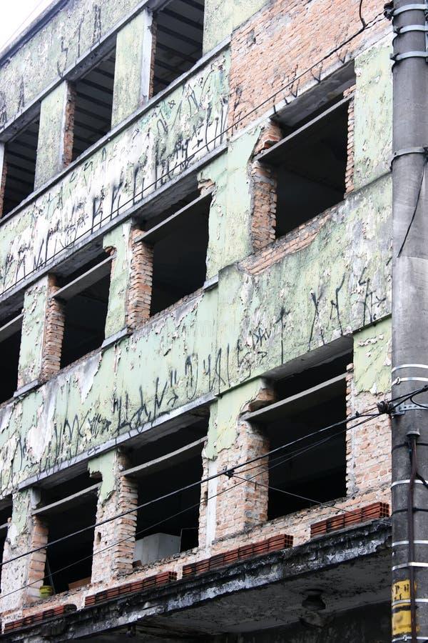 Edifício abandonado em Sao Paulo fotos de stock