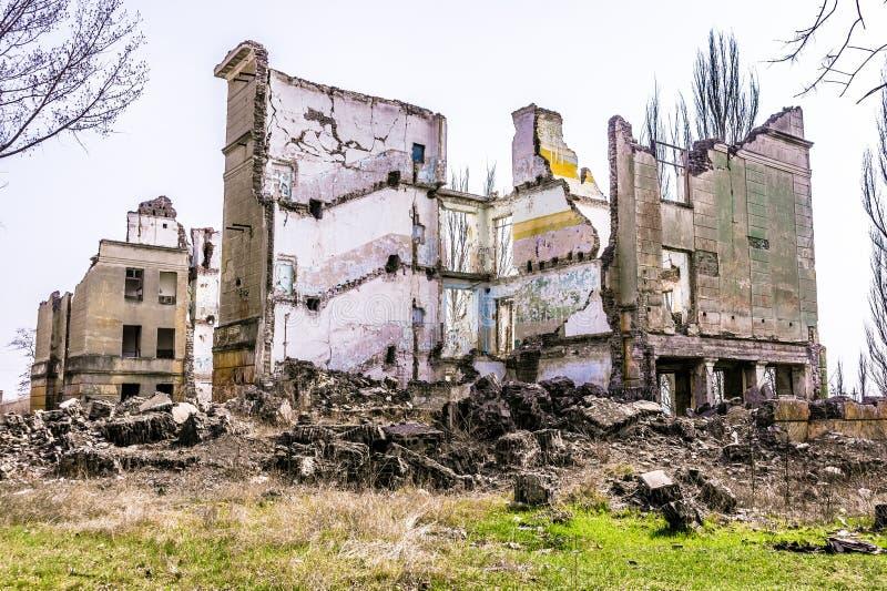 Edifício arruinado fotos de stock royalty free