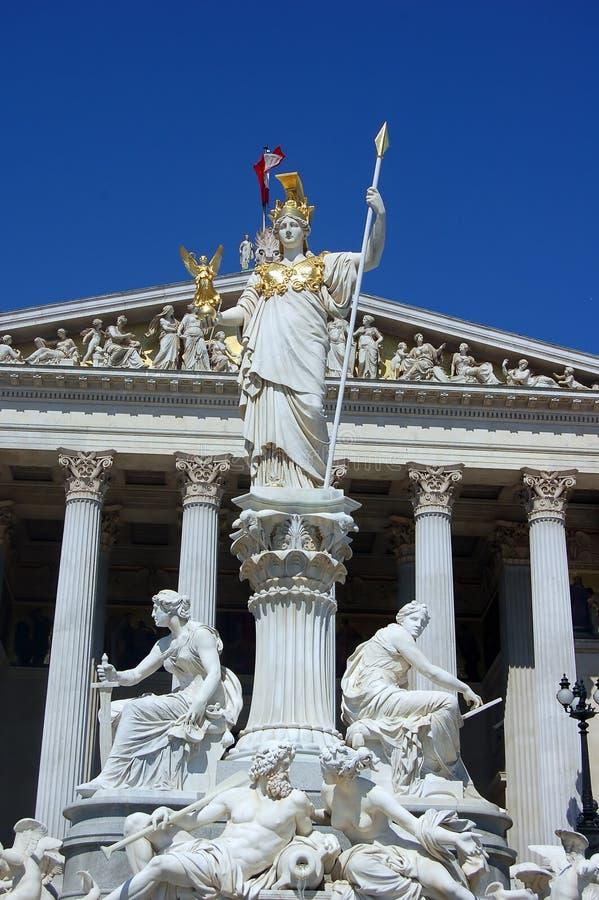 Edifício austríaco do parlamento mim imagens de stock