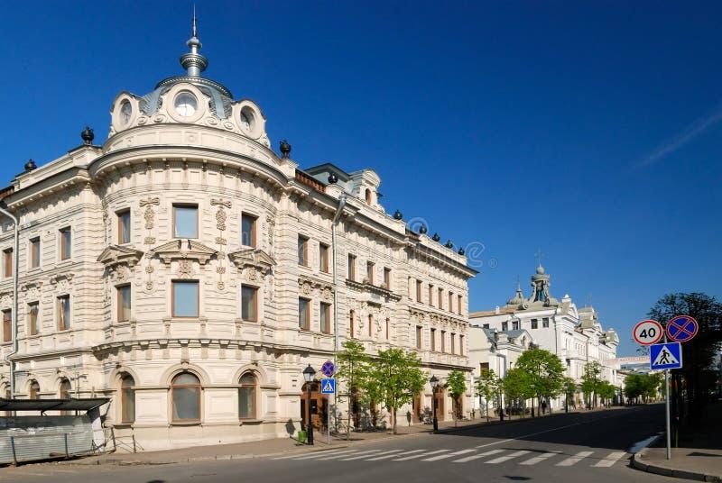 Edifício bonito velho em Kazan fotografia de stock royalty free