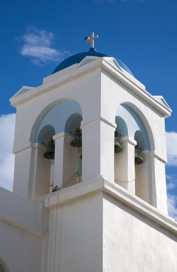 Edifício branco e azul de Greece imagens de stock royalty free