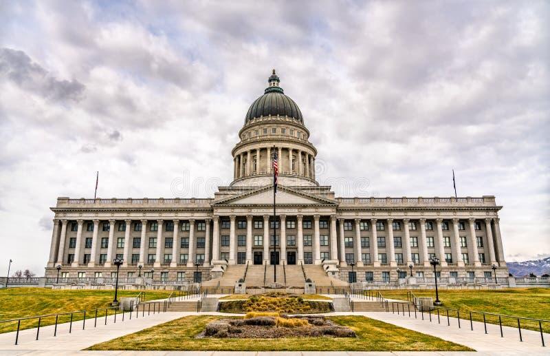 Edifício Capitólio Estatal de Utah em Salt Lake City fotografia de stock